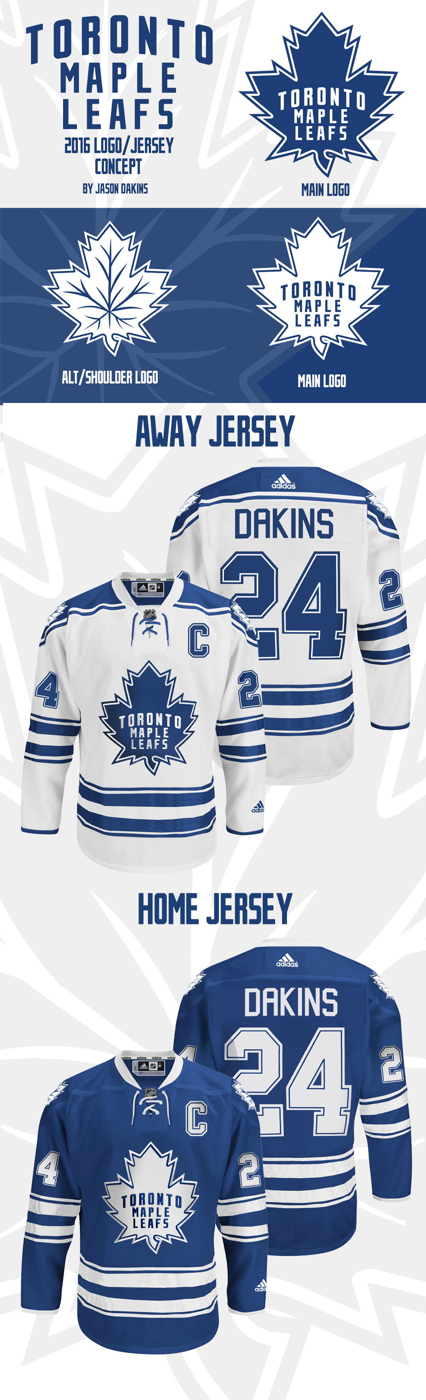 on sale 0b5d1 d8f10 DAKINS' 2016/2017 Toronto Maple Leafs Logo/Jersey Concept ...