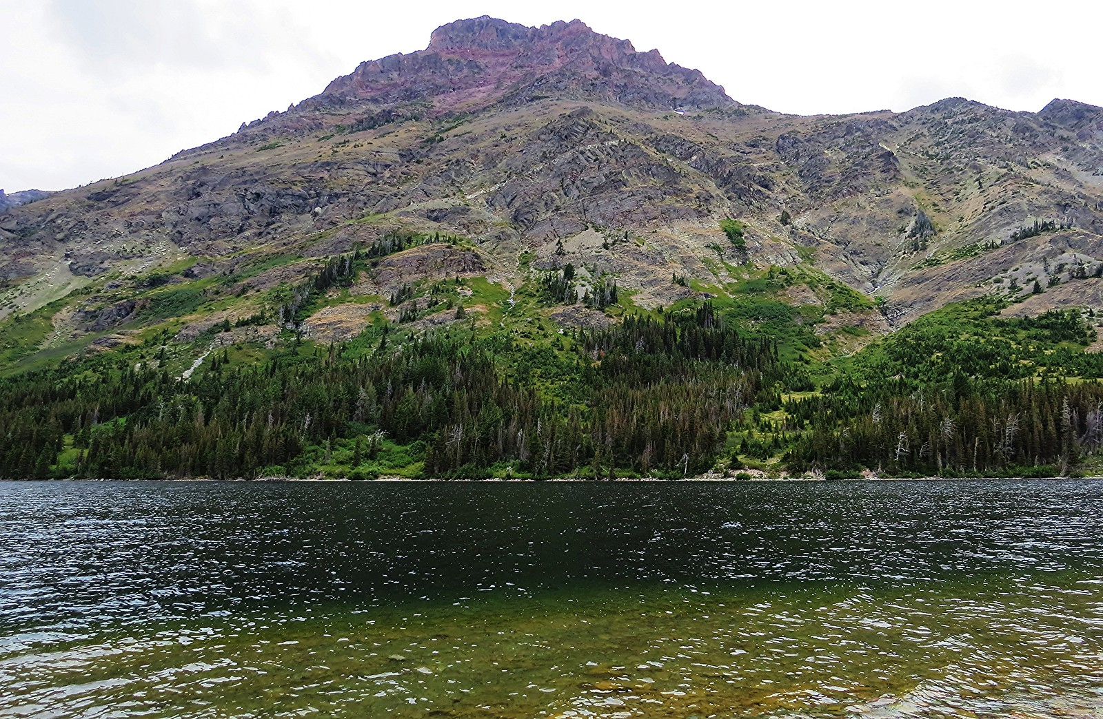 Rising Wolf Mountain, Two Medicine Lake, Montana