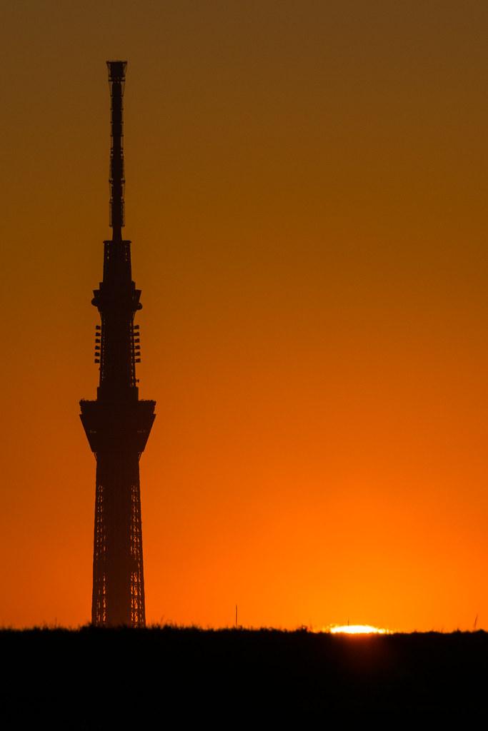20160117_01_Sunset and Tokyo Sky Tree