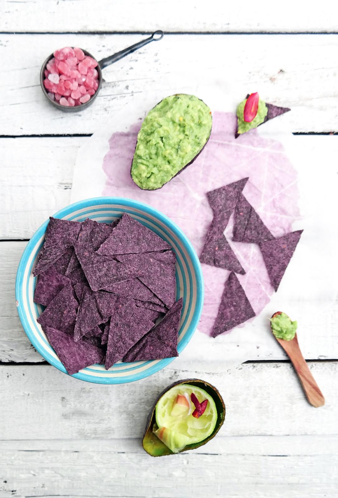 Purple corn crackers