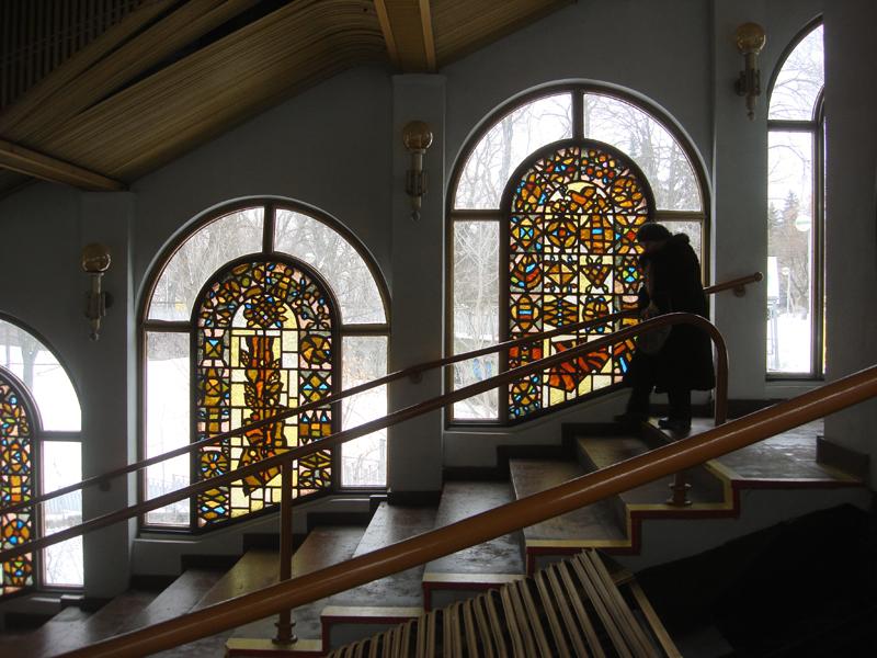 Kiev modern architecture stained-glass window