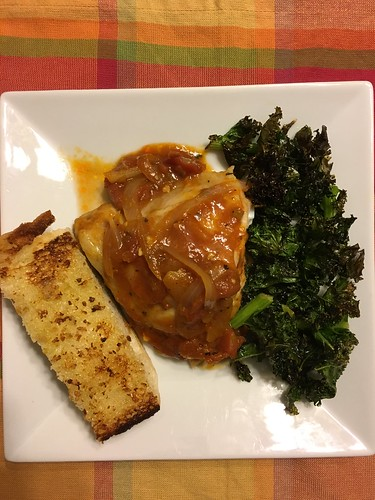 Chicken with Kale Chips