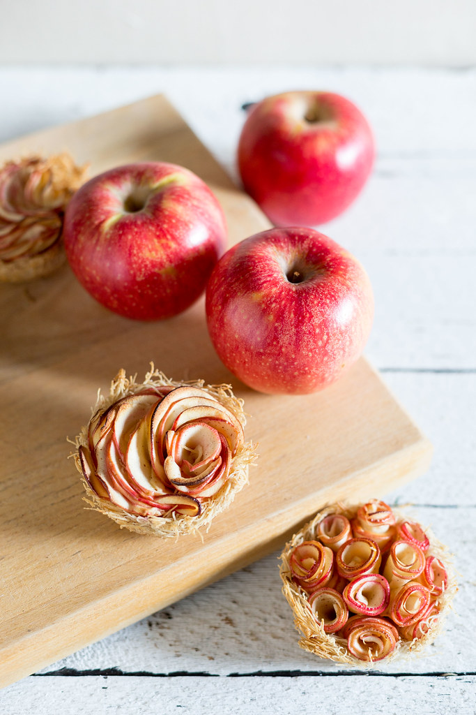 Cardamom Apple Kataifi Nests