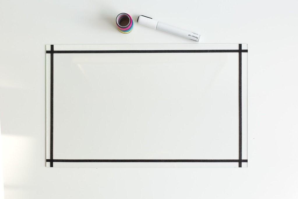 DIY glass memo board