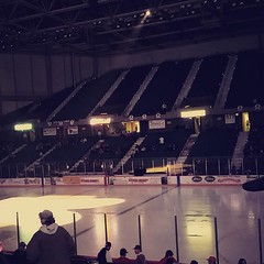 Went to a hockey game tonight.