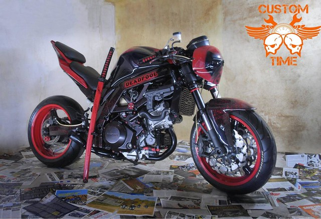 CustomTime Deadpool на базе Suzuki SV1000