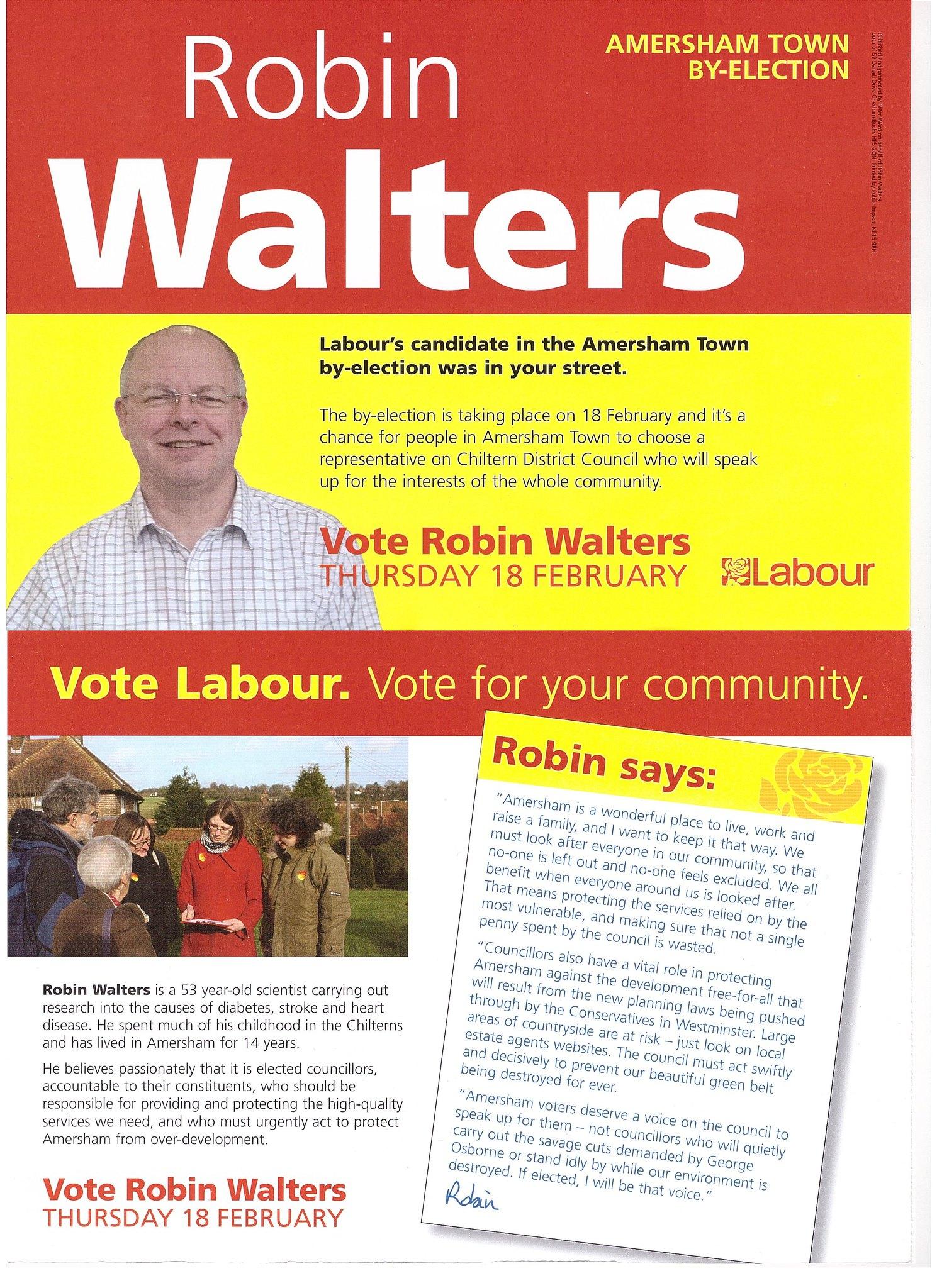 Robin Walters Leaflet