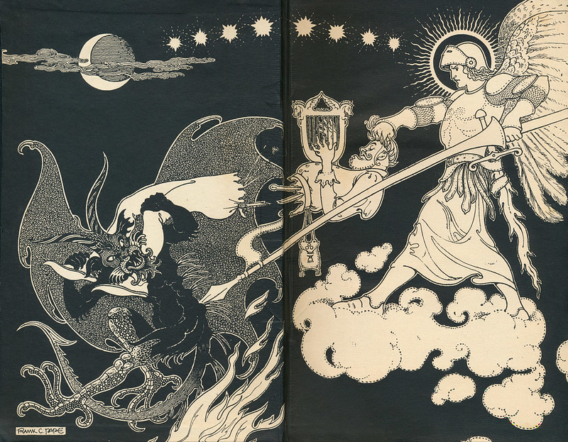 Frank Cheyne Pape - Endpapers for James Branch Cabell's Jurgen, A Comedy of Justice, 1921