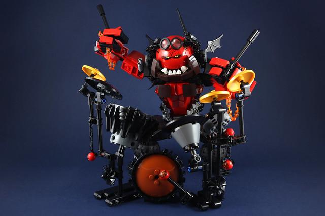 Punk Beast Drummer - MOC Nexo Knights