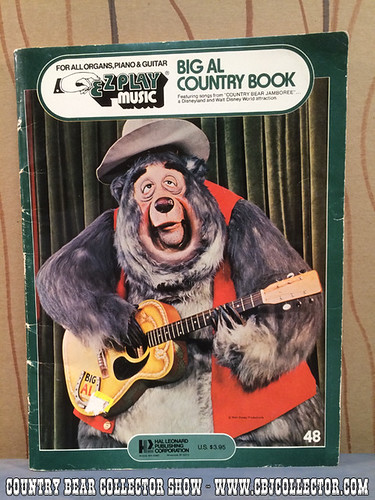 1977 Hal Leonard Publishing Big Al Country Book - Country Bear Collector Show #007