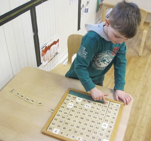 finishing the hundred board