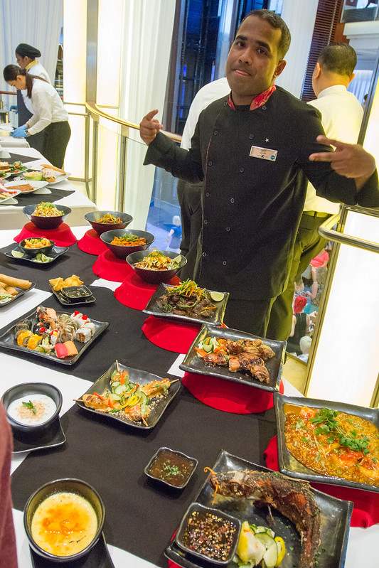 Celebrity Equinox: Silk Harvest Dishes on display