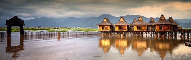 We felt like we were in the middle of nowhere at the Shwe Inn Tha Floating resort