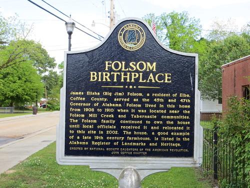 Folsom Birthplace Marker Elba AL