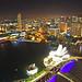 Singapore night. The skyline