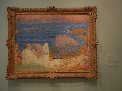 Pierre Bonnard, Legion of Honor, SF - The Abduction of Europa _ 1909