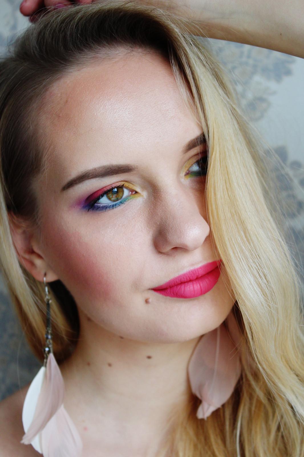 Colorful makeup look