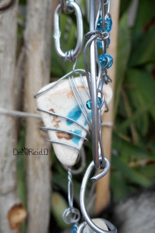mobìle farfalle, vetro e ceramica 8