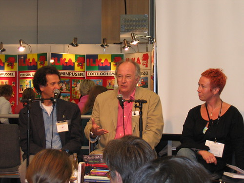 Philip Pullman with ALMA judges