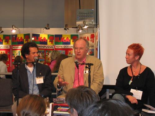 Philip Pullman with ALMA judges