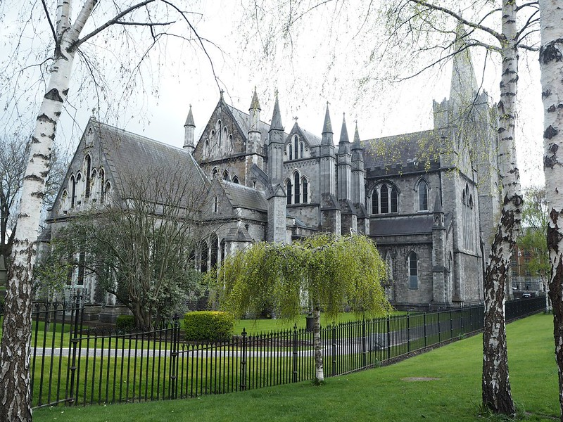 stpatrickscathedralP4150575, dublin, st patricks cathedral, green, nature, trees,
