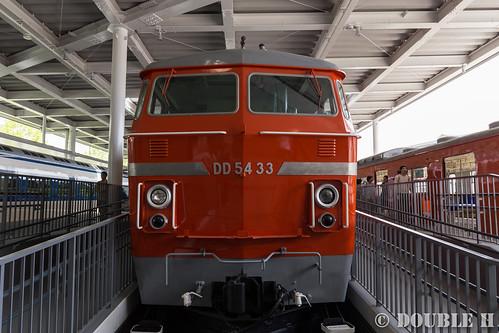 Kyoto Railway Museum (12) promenade / DD54-33