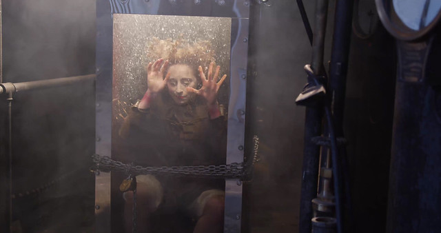 Dayle Krall aka The Houdini Girl, drowns in Houdini's Water Torture Cell...