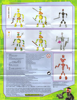 MEGA BLOKS :: Nickelodeon TEENAGE MUTANT NINJA TURTLES :: Micro Action Figures Series I, instructions v.1 B (( 2016))