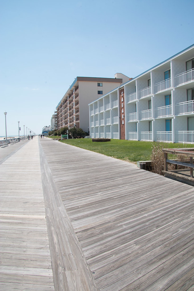 Empty boardwalk in Ocean City