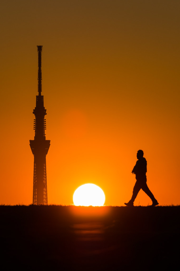20160111_02_Sunset and Tokyo Sky Tree