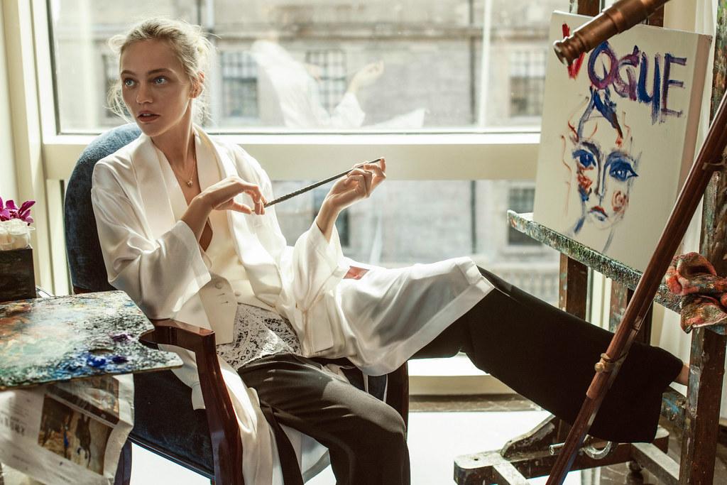 Саша Пивоварова — Фотосессия для «Vogue» CH 2016 – 1