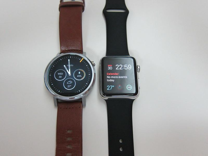 Moto 360 (2nd Gen) vs Apple Watch