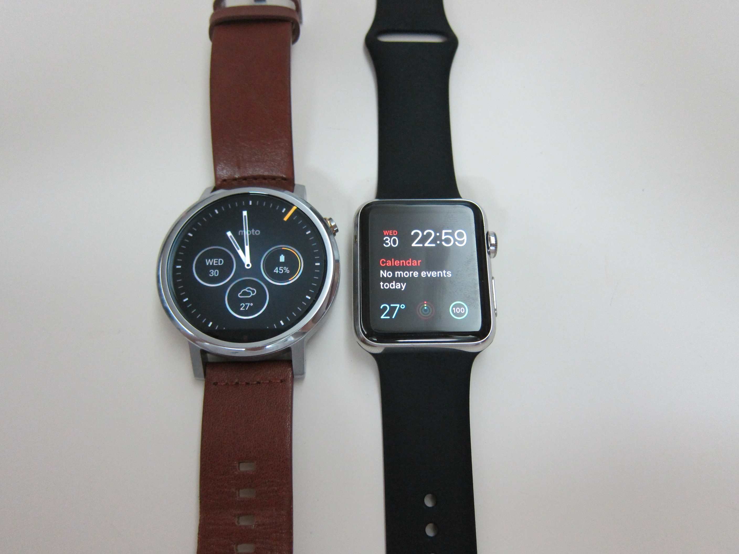 moto 2nd gen watch. Moto 360 (2nd Gen) Vs Apple Watch 2nd Gen