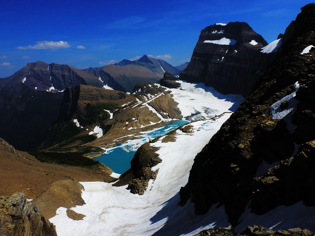 View of Grinnell Glacier, Glacier National Park, Montana