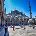 Blue Mosque Courtyard in Istanbul, Turkey by ` Toshio '