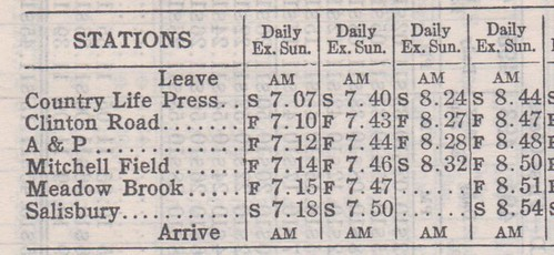 LIRR 1942 Country Life Press to Salisbury