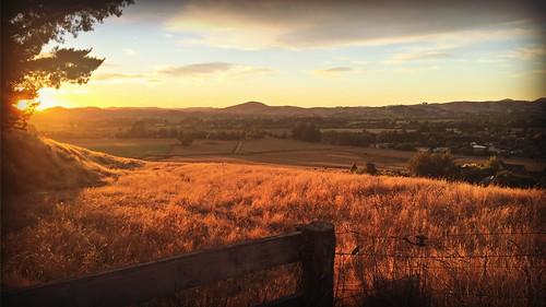 sunrise landscape hills picmonkey