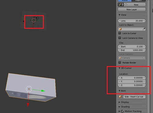 Blender - Setting 3D Cursor