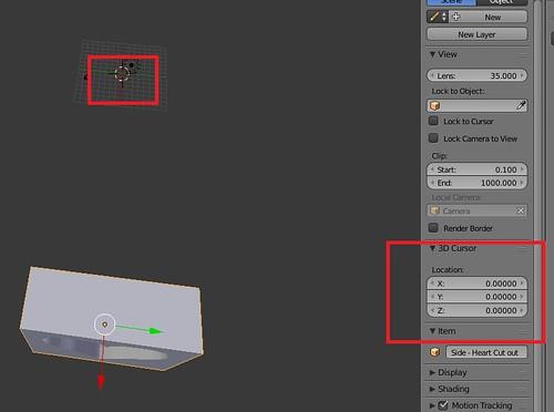 Blender - Setting 3D Cursor