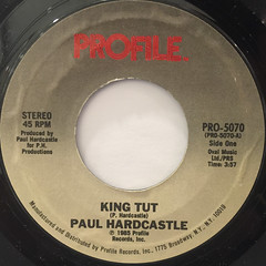 PAUL HARDCASTLE:KING TUT(LABEL SIDE-A)