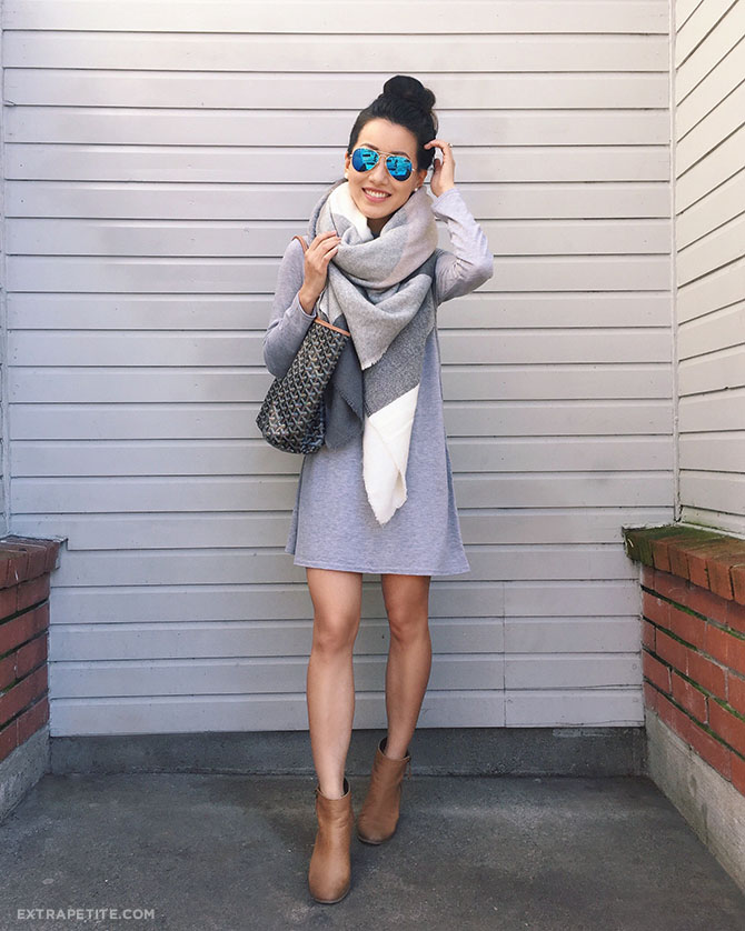 casual tourist outfit swing dress scarf san francisco