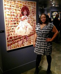 Zora and i last night at the Museum of Science and Industry for the #blackcreativity artist reception.