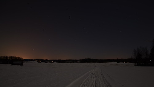 winter night dark landscape nikon darkness moonlight talvi maisema yö kuutamo yötaivas d5100