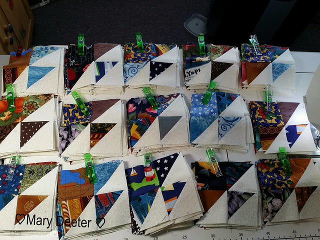 144 made for step 2 of the Scrap Dance Tango Mystery quilt
