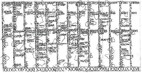 Messy Roman lunar calendar