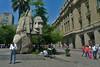 Santiago - Scupture near Plaza de Armas