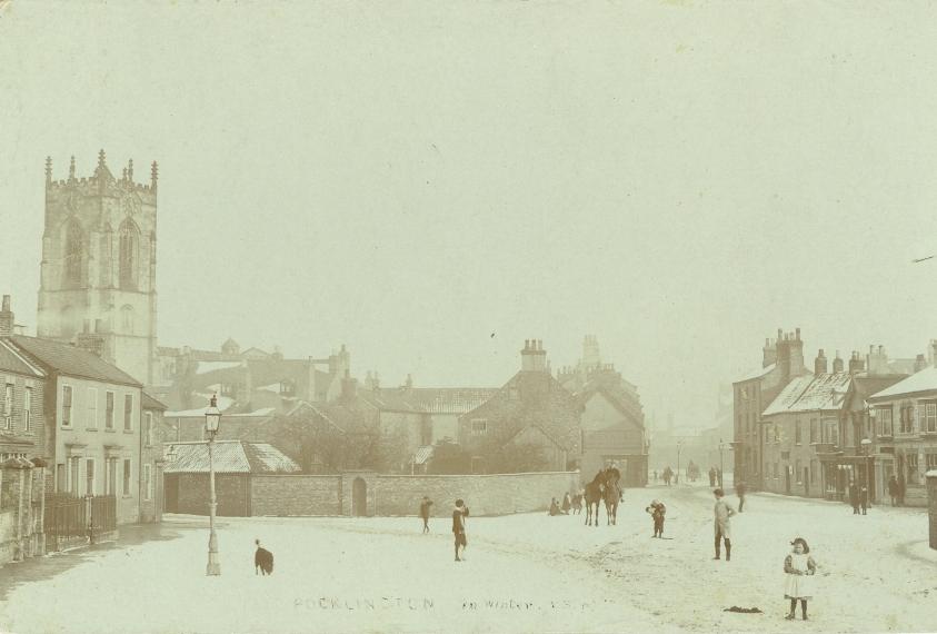 Pocklington from Railway Street 1905 (archive ref PO-1-107-17)