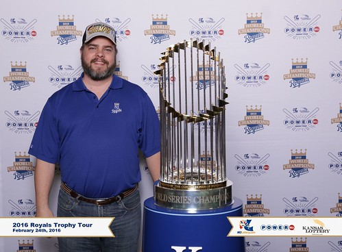 Picture with Royals World Series Trophy