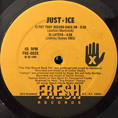 JUST-ICE:PUT THE RECORD BACK ON(LABEL SIDE-A)