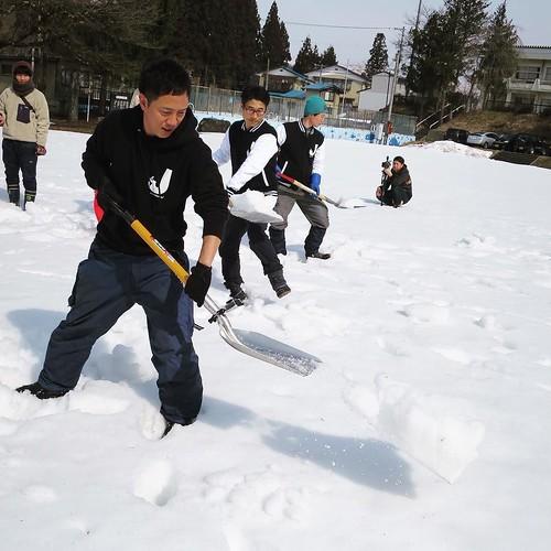 正しい除雪姿勢は、こう! #ジョセソン #ジョセササイズ